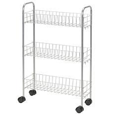 3-Tier Silver Utility Cart