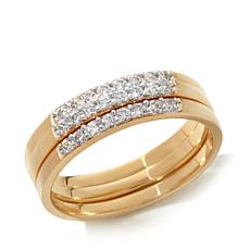 .36ctw Absolute™ Pavé Band 3-piece Stackable Set