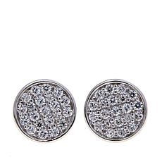 .38ctw Absolute™  Pavé Disc Stud Earrings