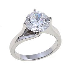 3ct Absolute Sterling Silver Round Solitaire Ring