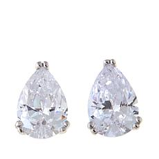3ctw Absolute™ Sterling Silver Pear-Cut Stud Earrings