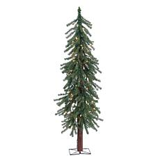 4' Pre-Lit Alpine Tree - 100 Clear Lights