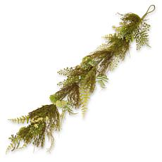 "45"" Garden Accents Artificial Fern and Lavender Garland"