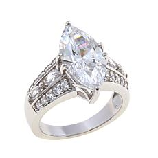 4.86ctw Absolute™ Marquise with Marquise and Round Ring