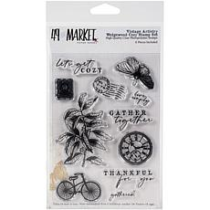 """49 And Market Clear Stamps 4"""" x 6"""" - Vintage Artistry Wedgewood"""