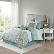 510 Design Shawnee 8-Piece Comforter Set Blue Queen