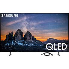 55 Inch Smart QLED 4K UHD Television and 6 Foot HDMI Cable