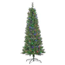 6-1/2' Mixed Needle Fiber Optic Tree - 200 Multicolor LED Lights