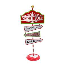 6-Inch High Metal Holiday Street Direction Sign