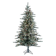 6' Lightly Flocked McKinley Pine Tree - 350 Clear Lights