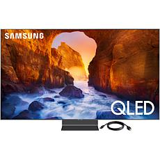 65 Inch QLED Flat 4K Television and 6 Foot HDMI Cable