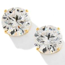 6ctw Absolute™ Round 4-Prong Gold-Plated Stud Earrings