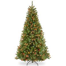 7-1/2' N.Valley Spruce Hinged Tree w/Lights