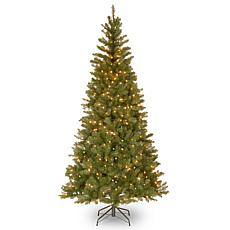 7' Aspen Spruce Hinged Tree w/Lights