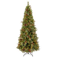 7.5 ft. FEEL-REAL® Colonial Slim Tree with Clear Lights