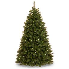 7.5 ft. Rocky Ridge Medium Pine Tree with Clear Lights