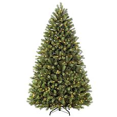 7.5' Narrow Oregon Pine Artificial Christmas Tree - 700 Clear Lights