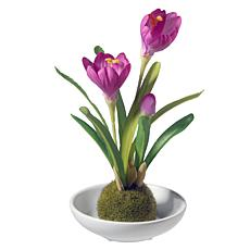 "9"" Artificial Potted Crocus Plant"