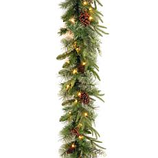 "9' Colonial ""Feel Real"" Garland w/Lights"