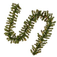 9' Kincaid Spruce Garland w/Lights