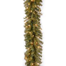 9' Norwood Fir Garland w/Lights