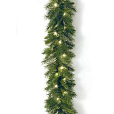 9' Winchester Pine Garland w/Lights