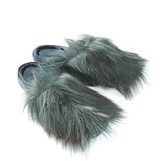 A by Adrienne Landau Faux Fur Mule Slipper