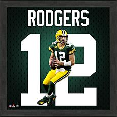 Aaron Rodgers Impact Jersey Framed Photo