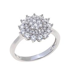 Absolute™ 1.03ctw Cubic Zirconia Round Cluster Ring
