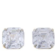 Absolute™ 14K Gold Cubic Zirconia Asscher-Cut Earrings - 8ctw