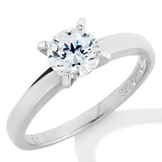 Absolute™  1ctw Cubic Zirconia Round Solitaire Ring