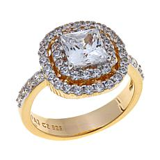 Absolute™ 2.01ctw Cubic Zirconia Double Halo Ring