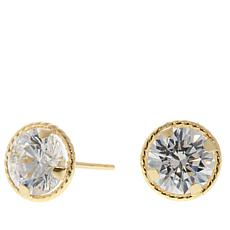 Absolute 2ctw Cubic Zirconia 14k Rope Border Studs
