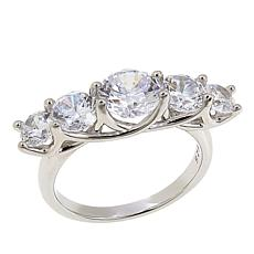 Absolute™ 3.60ctw CZ Sterling Silver Round 5-Stone Ring