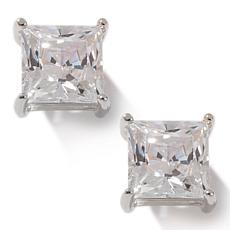 Absolute 3ctw Cubic Zirconia Princess-Cut 4-Prong Studs
