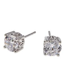 Absolute™ 3ctw CZ Aurora Star 101 Facets Platinum-Plated Stud Earrings