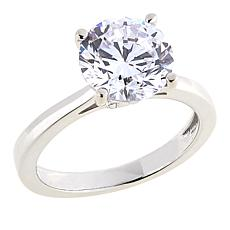 Absolute™ 3ctw CZ Sterling Silver Round Prong-Set Solitaire Ring