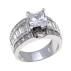 Absolute™ 4.22ctw Cubic Zirconia Princess  Ring