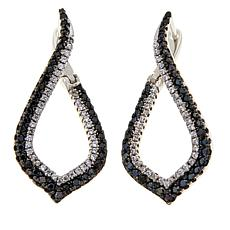 Absolute™ .95ctw CZ Black and Clear Earrings