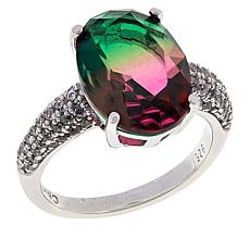 Absolute™ Cubic Zirconia and Simulated Bi-Color Tourmaline Ring