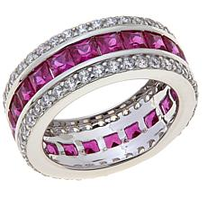 Absolute™ Cubic Zirconia and Simulated Ruby Ring