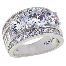 Absolute™ Cubic Zirconia Round and Baguette Engagement  Ring