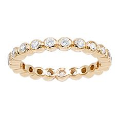 Absolute™ Cubic Zirconia Round Bezel Eternity Stack Ring