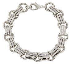 Absolute™ Cubic Zirconia Triple Oval-Link Bracelet