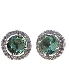 Absolute™ CZ and Simulated Prasiolite Earrings