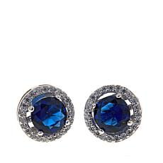 Absolute™ CZ and Simulated Sapphire Earrings