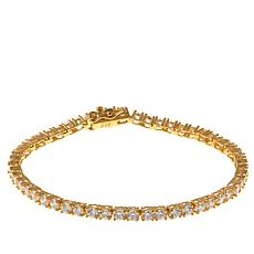 Absolute™ CZ Gold-Plated Sterling Silver 3mm Round Line Bracelet
