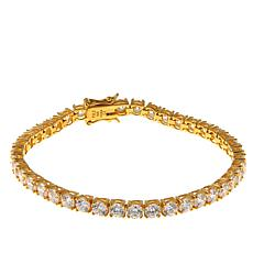 Absolute™ CZ Gold-Plated Sterling Silver 4mm Round Line Bracelet