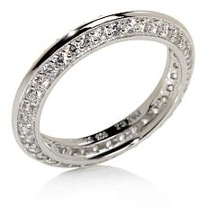 Absolute™ CZ Pavé Knife-Edge Eternity Ring