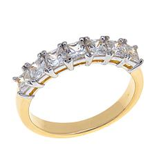 Absolute™ Princess-Cut Cubic Zirconia 7-Stone Gold-Plated Ring